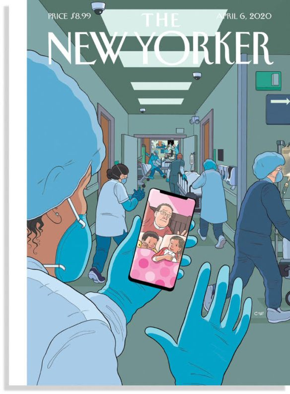 New Yorker cover_Masked E.R. doc